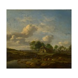 Landscape With a Farm by a Stream