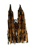Cologne Cathedral  1966  ink drawing
