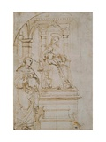 Sketch for An Enthroned Virgin And Child With Saint Nicholas of Tolentino