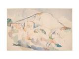 Chateau Noir And Mont Sainte-Victoire Giclée par Paul Cézanne