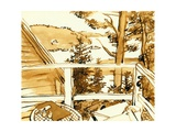 Maine Porch  1975  ink drawing