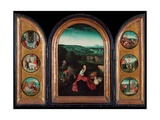 Rest on the Flight Into Egypt (Triptych)