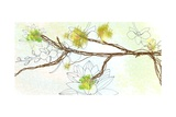 Zen Floral Panel 1