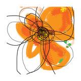 Orange Petals 2 Reproduction d'art par Jan Weiss