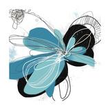 Tiffany Blue Floral Four