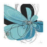 Tiffany Blue Floral Five