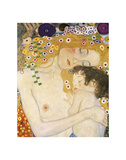 Mother and Child (detail from The Three Ages of Woman), c. 1905 Reproduction d'art par Gustav Klimt