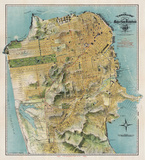 Map of San Francisco  California  1912