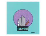 Houston Snow Globe