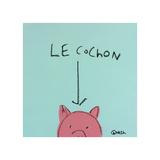 Le Cochon Giclée par Brian Nash