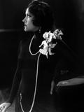 L'Actrice Americaine Gloria Swanson (1899 - 1983) Ici En 1950