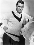 British Born Actor Cary Grant (1904 - 1986)  Born Archibald Leach  Wearing a Cricket Sweater