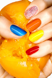 Yellow Tomato and Multi Colored Nails