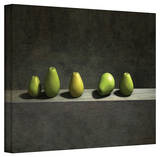Cynthia Decker 'Five Pears' Gallery Wrapped Canvas