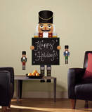 Nutcracker Chalkboard Peel and Stick Giant Wall Decals