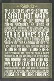 Psalm 23 Prayer Plastic Sign