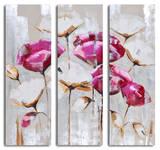Pink & white poppy triptych