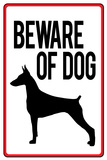 Beware of Dog Sign Plastic Sign