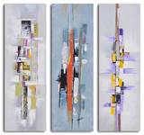Urban abstract triptych
