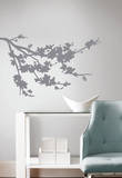 Gray Silhouette Blossom Branch Peel and Stick Wall Decals