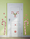 Candy Cane Peel and Stick Giant Wall Decals