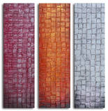 Trio of textured panels