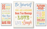 Be Yourself Typography Trio Oversized