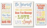Be Yourself Typography Trio Oversized