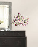 Pink Blossom Branches Peel and Stick Wall Decals