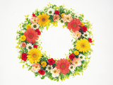 Colorful Wreath Against White Background