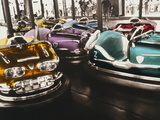 Bumper Cars in An Amusement Park