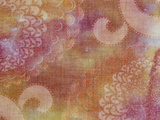 Blurred View of Pink And White Oriental Chrysanthemum Pattered Fabric