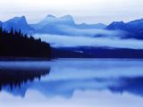 Reflection of Clouds in a Lake  Maligne Lake  Jasper National Park  Alberta  Canada