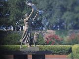 Statue in a Garden  the Waving Girl  Savannah  Georgia  USA