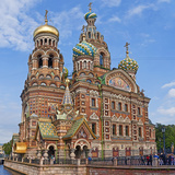 Architectural Details of a Church  Church of the Savior on Blood  St Petersburg  Russia