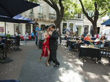 Tango Dancers Dancing for Tips at a Sidewalk Cafe