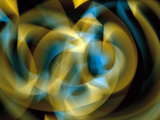 Abstract Swirls of Blue And Gold Ribbons of Light