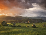 Castlerigg Stone Circle at Sunset  Keswick  Lake District National Park  Cumbria  England
