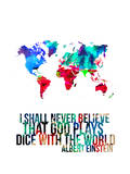World Map Quote Albert Einstein