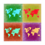 Pop Art World Map 3