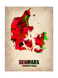 Denmark Watercolor Poster