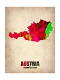 Austria Watercolor Poster