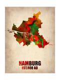 Hamburg Watercolor Map
