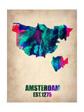 Amsterdam Watercolor Map