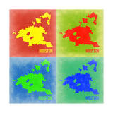 Houston Pop Art Map 1