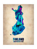 Finland Watercolor Poster
