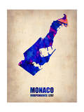 Monaco Watercolor Poster