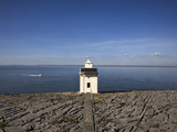 Light Beacon Overlooking Galway Bay  the Burren  County Clare  Ireland