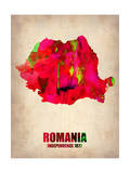 Romania Watercolor Poster