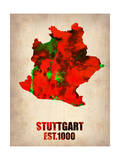 Stuttgart Watercolor Poster